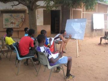 Volunteer Unterricht Ghana