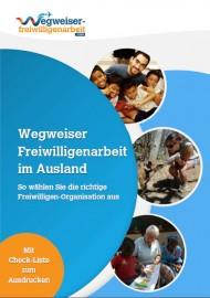Cover Wegweiser Freiwilligenarbeit im Ausland